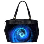 Blue Black Hole Galaxy Office Handbags (2 Sides)  Back