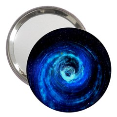 Blue Black Hole Galaxy 3  Handbag Mirrors