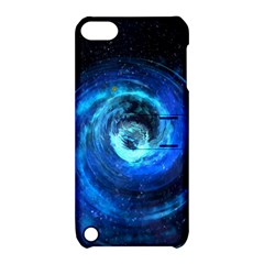 Blue Black Hole Galaxy Apple Ipod Touch 5 Hardshell Case With Stand