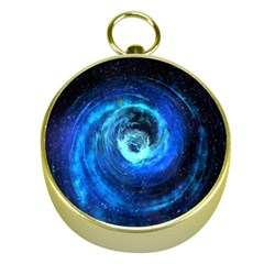 Blue Black Hole Galaxy Gold Compasses