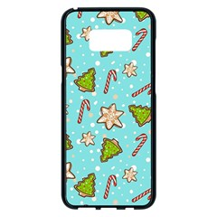 Ginger Cookies Christmas Pattern Samsung Galaxy S8 Plus Black Seamless Case