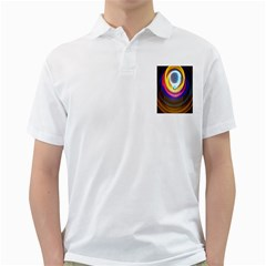 Colorful Glow Hole Space Rainbow Golf Shirts