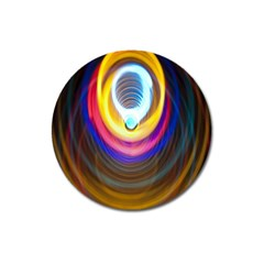 Colorful Glow Hole Space Rainbow Magnet 3  (round)