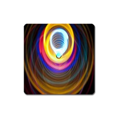 Colorful Glow Hole Space Rainbow Square Magnet