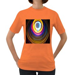 Colorful Glow Hole Space Rainbow Women s Dark T Shirt