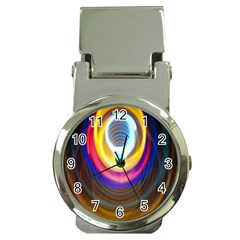 Colorful Glow Hole Space Rainbow Money Clip Watches