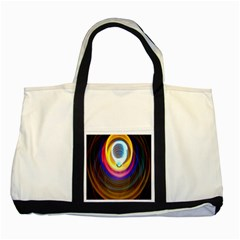 Colorful Glow Hole Space Rainbow Two Tone Tote Bag