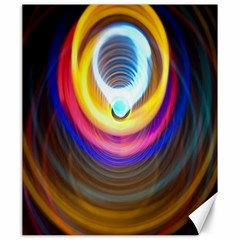 Colorful Glow Hole Space Rainbow Canvas 20  X 24