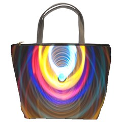 Colorful Glow Hole Space Rainbow Bucket Bags