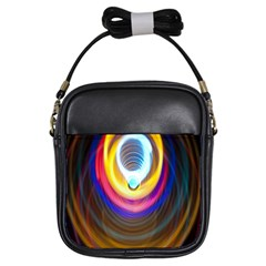 Colorful Glow Hole Space Rainbow Girls Sling Bags