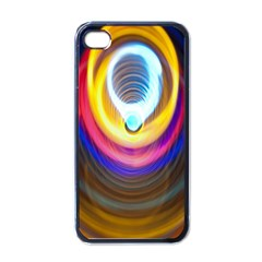Colorful Glow Hole Space Rainbow Apple Iphone 4 Case (black)