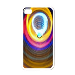 Colorful Glow Hole Space Rainbow Apple Iphone 4 Case (white)