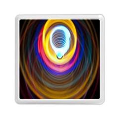 Colorful Glow Hole Space Rainbow Memory Card Reader (square)