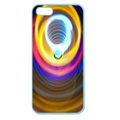 Colorful Glow Hole Space Rainbow Apple Seamless Iphone 5 Case (color)