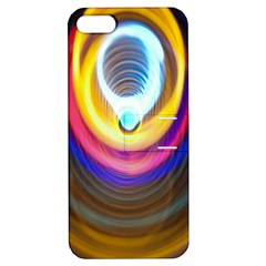 Colorful Glow Hole Space Rainbow Apple Iphone 5 Hardshell Case With Stand