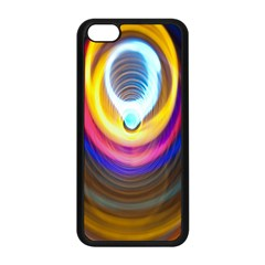 Colorful Glow Hole Space Rainbow Apple Iphone 5c Seamless Case (black)