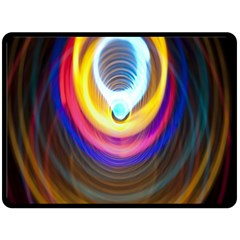 Colorful Glow Hole Space Rainbow Double Sided Fleece Blanket (large)