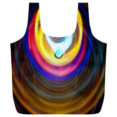 Colorful Glow Hole Space Rainbow Full Print Recycle Bags (l)