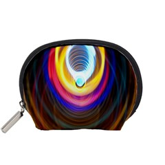 Colorful Glow Hole Space Rainbow Accessory Pouches (small)