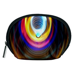 Colorful Glow Hole Space Rainbow Accessory Pouches (medium)