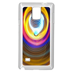 Colorful Glow Hole Space Rainbow Samsung Galaxy Note 4 Case (white)