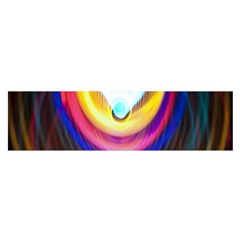 Colorful Glow Hole Space Rainbow Satin Scarf (oblong)