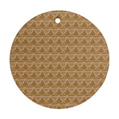 Cake Brown Sweet Ornament (round)