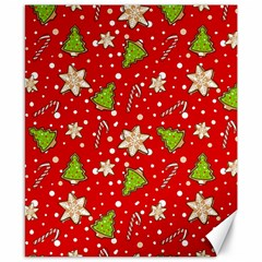 Ginger Cookies Christmas Pattern Canvas 8  X 10
