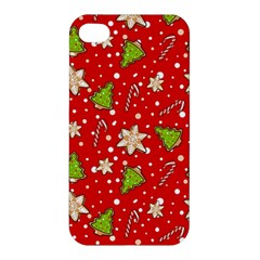 Ginger Cookies Christmas Pattern Apple Iphone 4/4s Hardshell Case