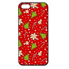 Ginger Cookies Christmas Pattern Apple Iphone 5 Seamless Case (black)
