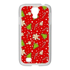 Ginger Cookies Christmas Pattern Samsung Galaxy S4 I9500/ I9505 Case (white)