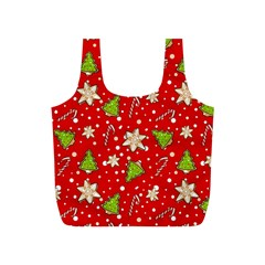 Ginger Cookies Christmas Pattern Full Print Recycle Bags (s)
