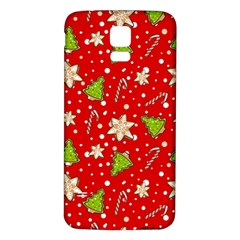 Ginger Cookies Christmas Pattern Samsung Galaxy S5 Back Case (white)