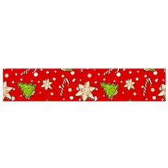 Ginger Cookies Christmas Pattern Flano Scarf (small)
