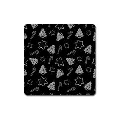 Ginger Cookies Christmas Pattern Square Magnet
