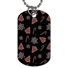 Ginger Cookies Christmas Pattern Dog Tag (one Side)