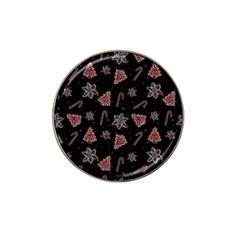 Ginger Cookies Christmas Pattern Hat Clip Ball Marker (4 Pack)