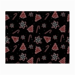Ginger Cookies Christmas Pattern Small Glasses Cloth