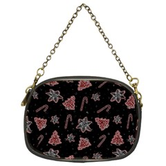 Ginger Cookies Christmas Pattern Chain Purses (two Sides)