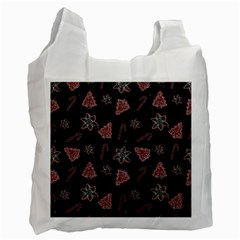 Ginger Cookies Christmas Pattern Recycle Bag (two Side)