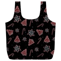 Ginger Cookies Christmas Pattern Full Print Recycle Bags (l)