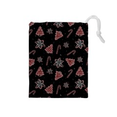 Ginger Cookies Christmas Pattern Drawstring Pouches (medium)
