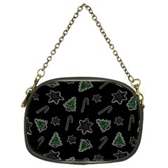 Ginger Cookies Christmas Pattern Chain Purses (one Side)