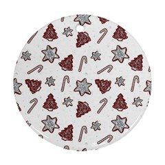 Ginger Cookies Christmas Pattern Ornament (round)