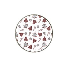 Ginger Cookies Christmas Pattern Hat Clip Ball Marker (10 Pack)