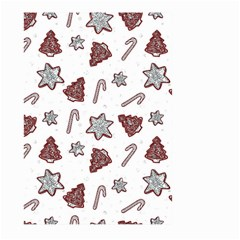 Ginger Cookies Christmas Pattern Large Garden Flag (two Sides)