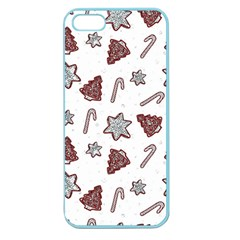 Ginger Cookies Christmas Pattern Apple Seamless Iphone 5 Case (color)