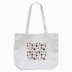 Ginger Cookies Christmas Pattern Tote Bag (white)