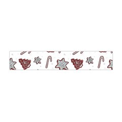 Ginger Cookies Christmas Pattern Flano Scarf (mini)