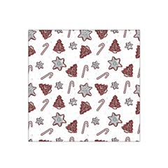 Ginger Cookies Christmas Pattern Satin Bandana Scarf